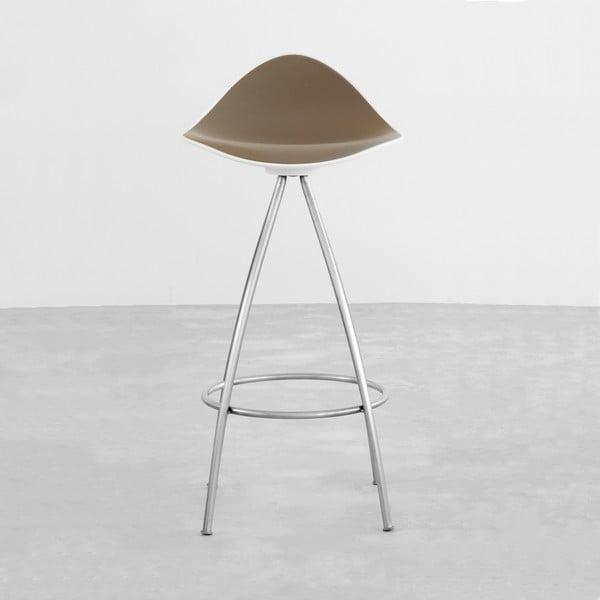Sivá stolička s chrómovanými nohami Stua Onda, 66 cm