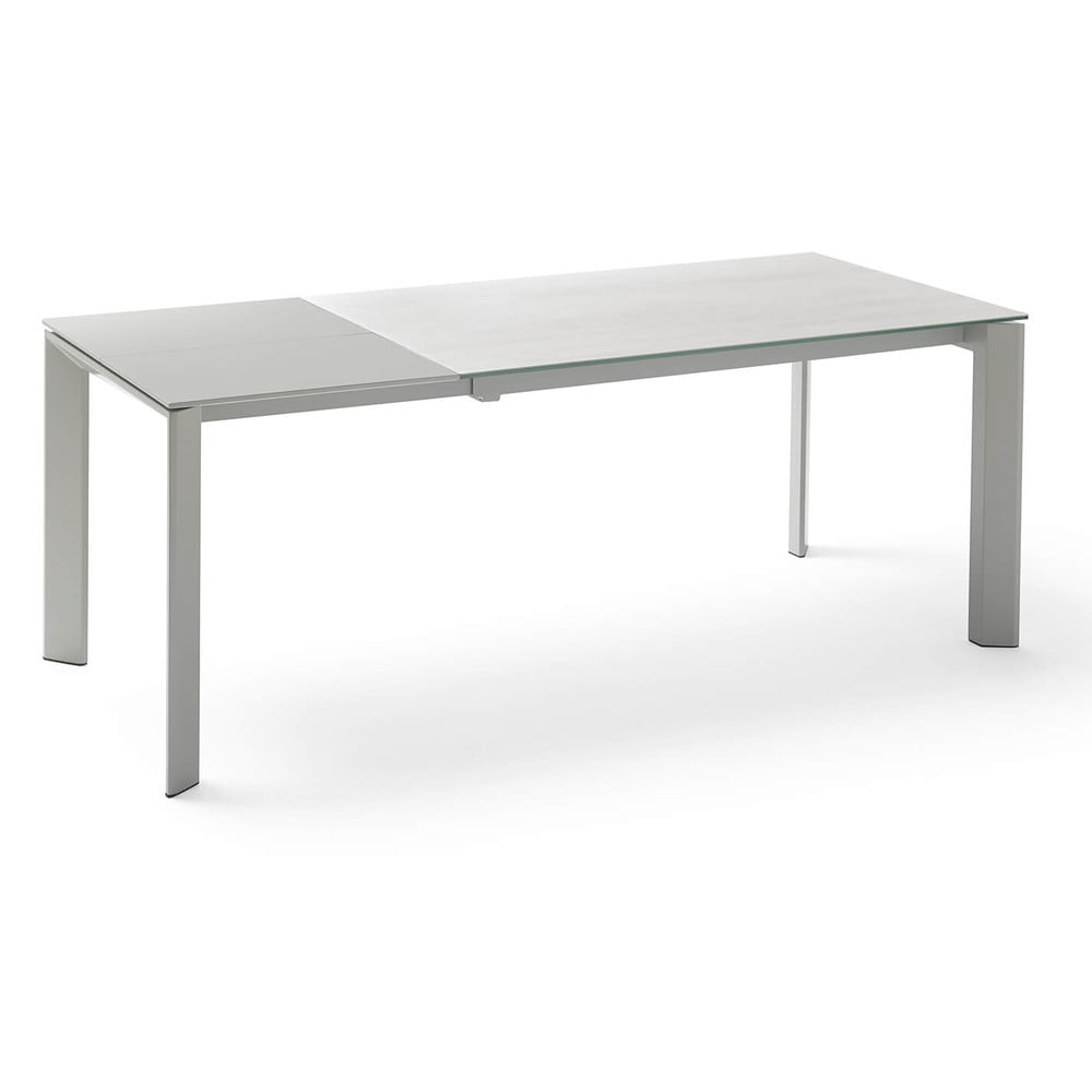Sivý rozkladací jedálenský stôl sømcasa Tamara Snow, dĺžka 160/240 cm