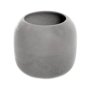 Sivý betónový pohárik na kefky Iris Hantverk