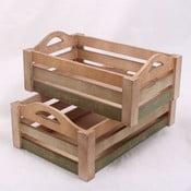 Sada 2 drevených prepraviek Seaside