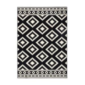 Čierny koberec Hanse Home Gloria Ethno, 80 x 150 cm
