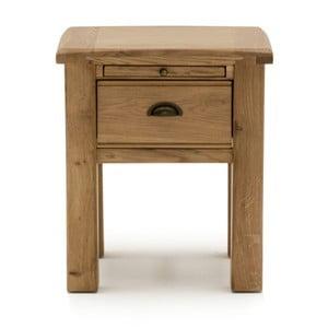 Stolík so zásuvkou z dubového dreva VIDA Living Breeze