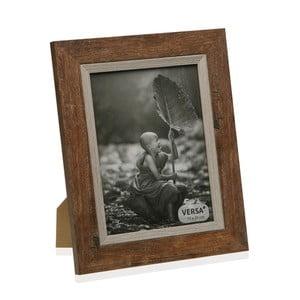 Drevený rámik na fotografiu Versa Madera Marron, 15 × 20 cm