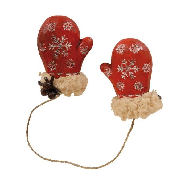 Závesné dekoratívne rukavičky Antic Line Red Mitten