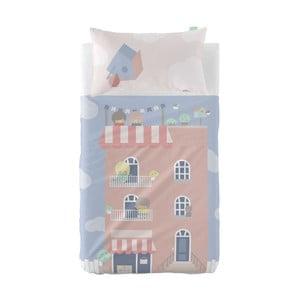 Set plachty a obliečky na vankúš z čistej bavlny Happynois Neighbor, 120×180 cm