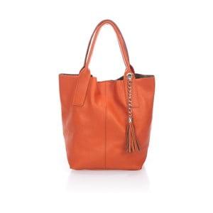 Oranžová kožená kabelka Giorgio Costa Lauretta