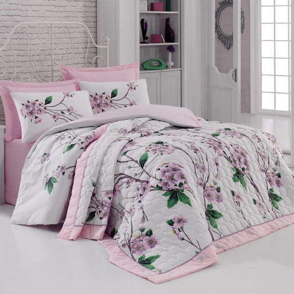 Obliečky s plachtou Pam Pink, 200x220cm