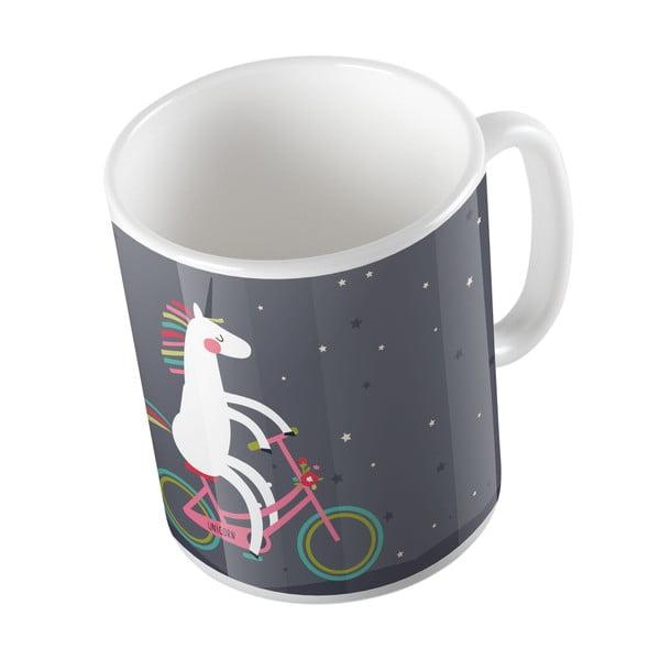 Keramický hrnček Butter Kings Unicorn With A Bike, 330 ml