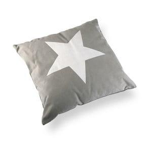Štvorcový vankúš s výplňou Grey & White Star, 45 x 45 cm