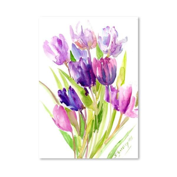 Plagát Purple Tulips od Suren Nersisyan