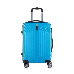 Tyrkysovomodrý cestovný kufor na kolieskach s kódovým zámkom SINEQUANONE Rozalina, 44 l