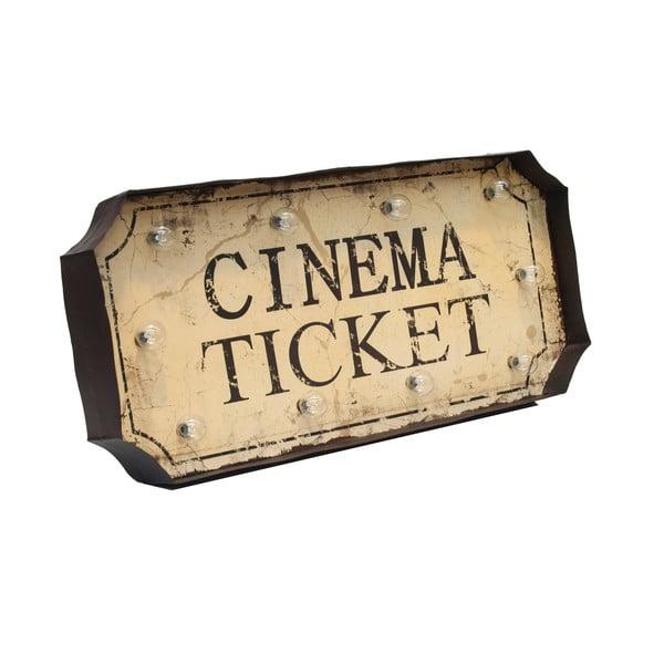 Svietiaca dekorácia na stenu Novita Cinema Ticket