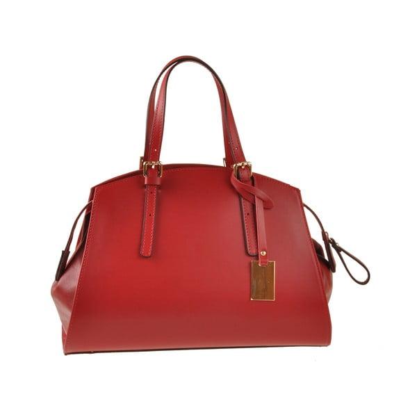 Kožená kabelka Aston, červená