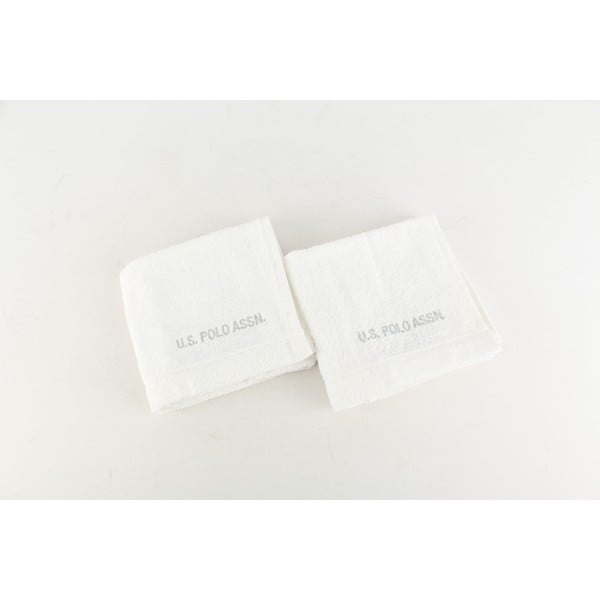 Sada 2 uterákov U.S. Polo Assn. Wash White, 30 x 50 cm