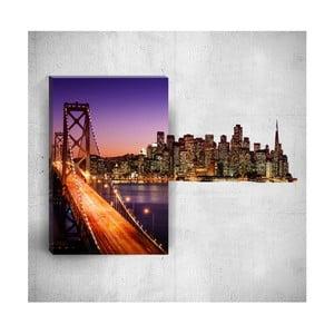Nástenný 3D obraz Mosticx City Lights, 40×60 cm