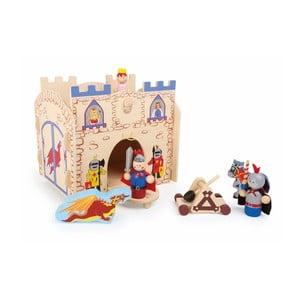 Drevený domček na hranie s figúrkami Legler Knights