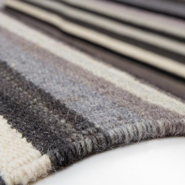 Vlnený koberec Atacama 160x230 cm, sivý