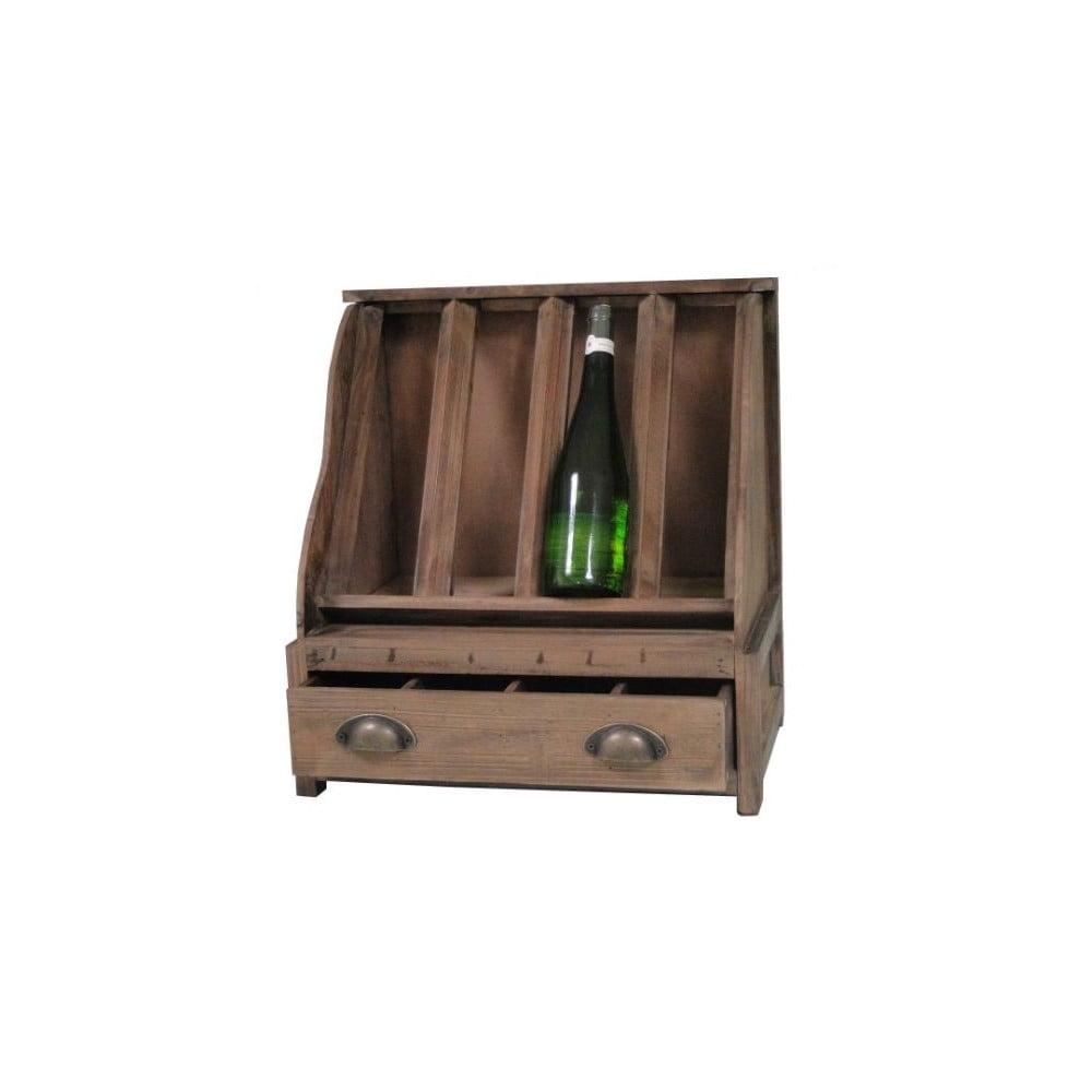 Drevený stojan na víno Antic Line Wooden
