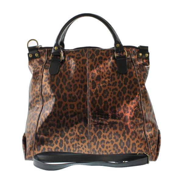 Bronzová kožená taška Goldie