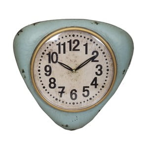 Modré nástenné hodiny Antic Line Blue Vintage