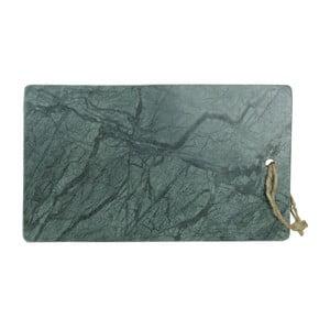 Zelená doštička na krájanie z mramoru Strömshaga Marble, 35×20,5 cm