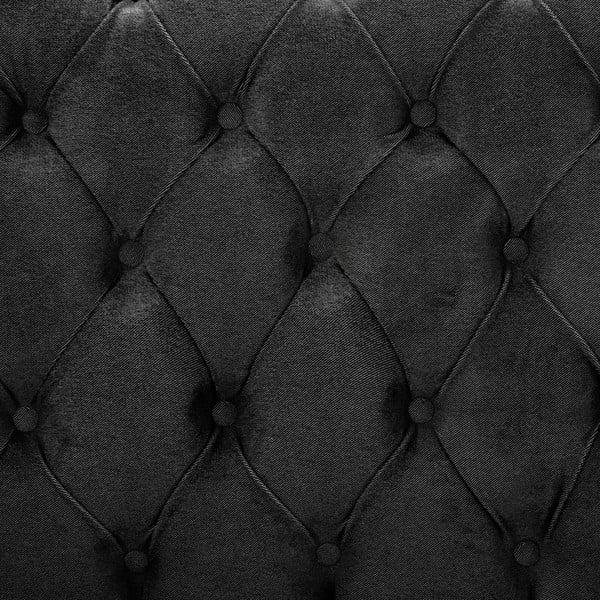 Tmavosivá posteľ s čiernymi nohami VIVONITA Allon, 160 x 200 cm
