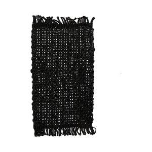 Čierne jutové prestieranie na stôl Simla Tassel, 45 × 30 cm