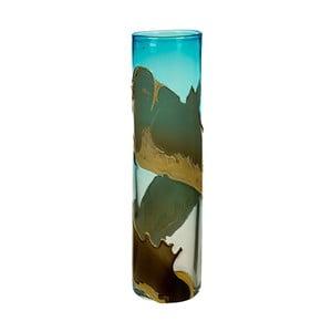 Ručne vyrábaná krištáľová váza Santiago Pons Ocean, výška 45 cm