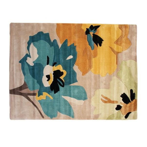 Koberec Bloom, 120 x 170 cm, modrý