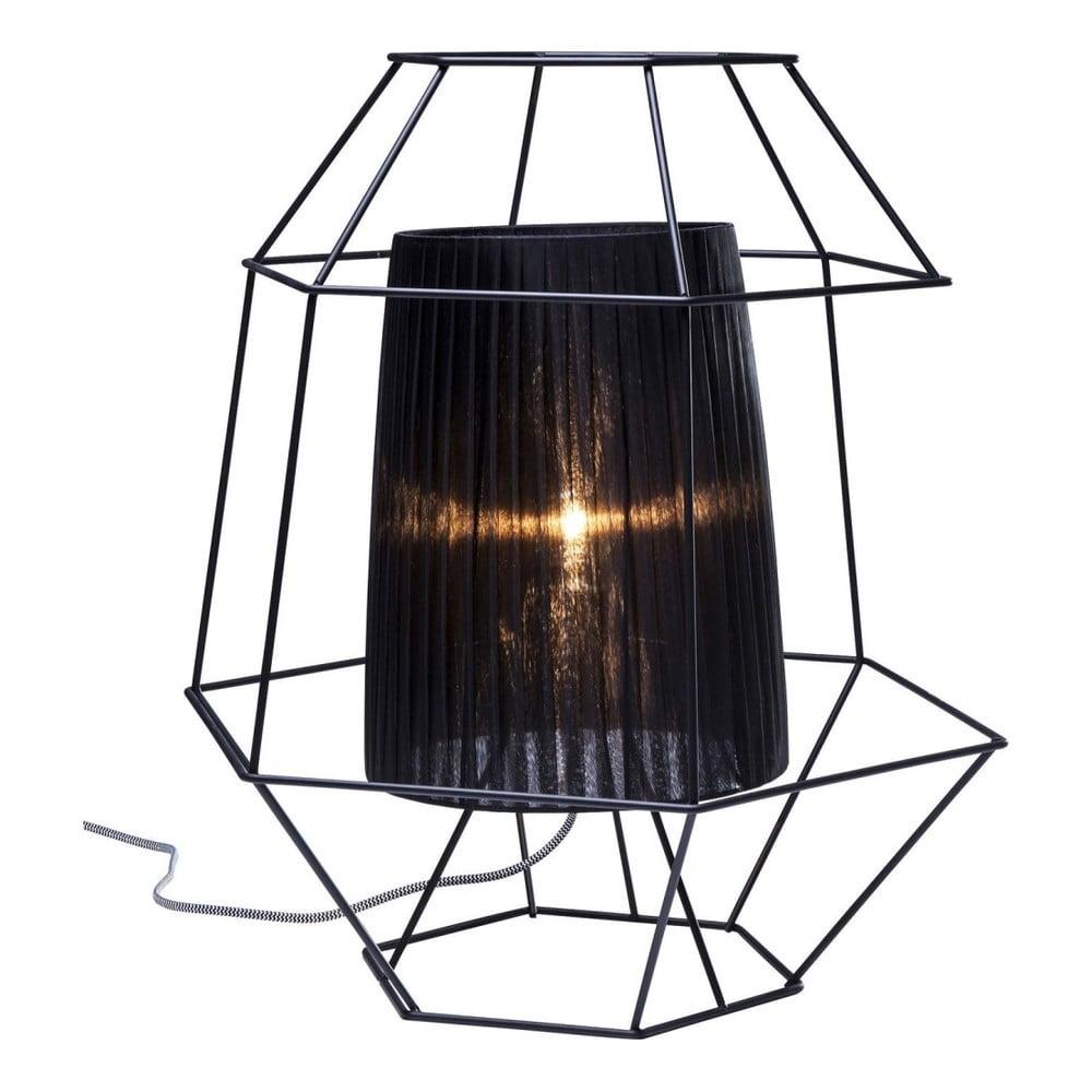 Čierna stolová lampa Kare Design Wire
