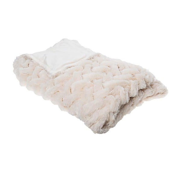 Deka Synthetic Fur Cream, 150x180 cm