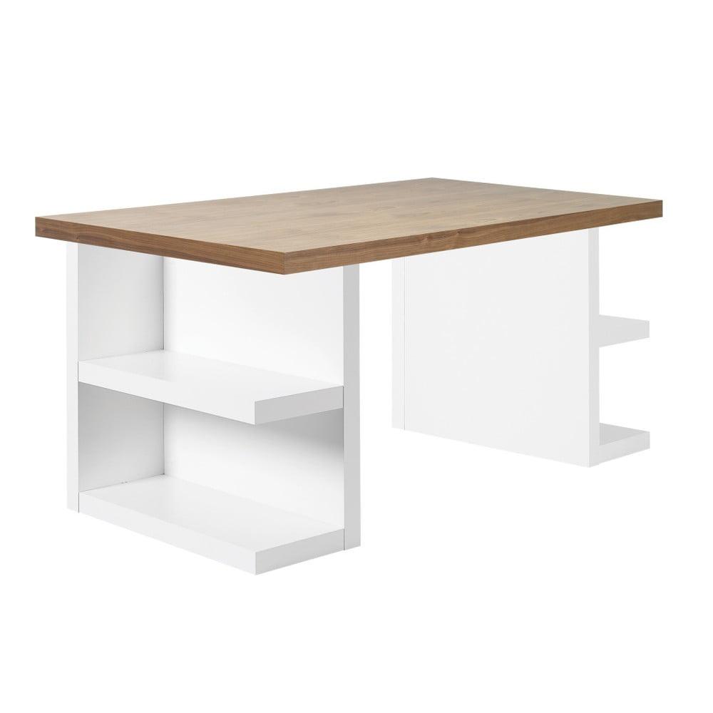Hnedý pracovný stôl TemaHome Multi, 180 cm