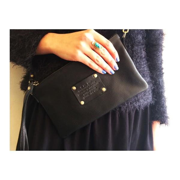Čierna kožená kabelka O My Bag The Betsy