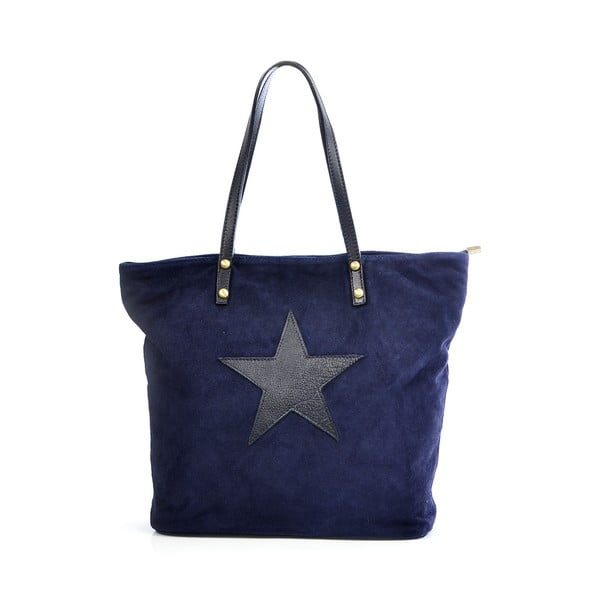 Kožená kabelka Sharon, modrá