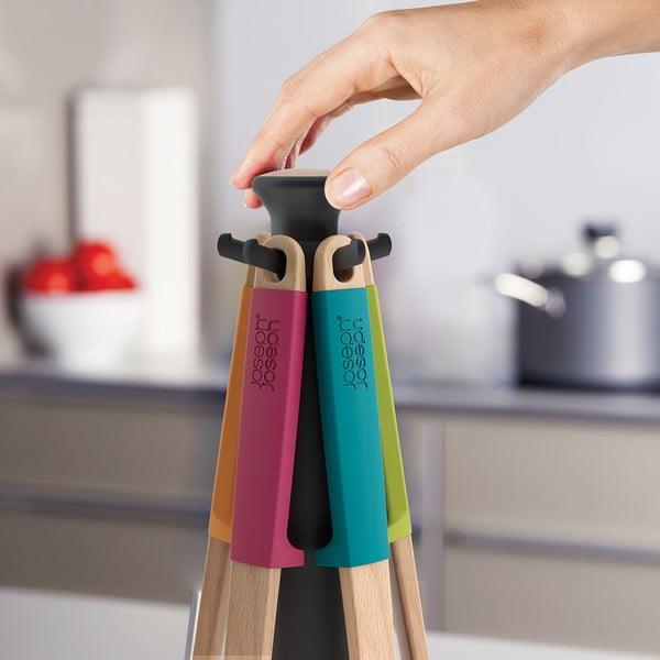 Rotačný stojan s nástrojmi Elevate Wood Carousel, farebný