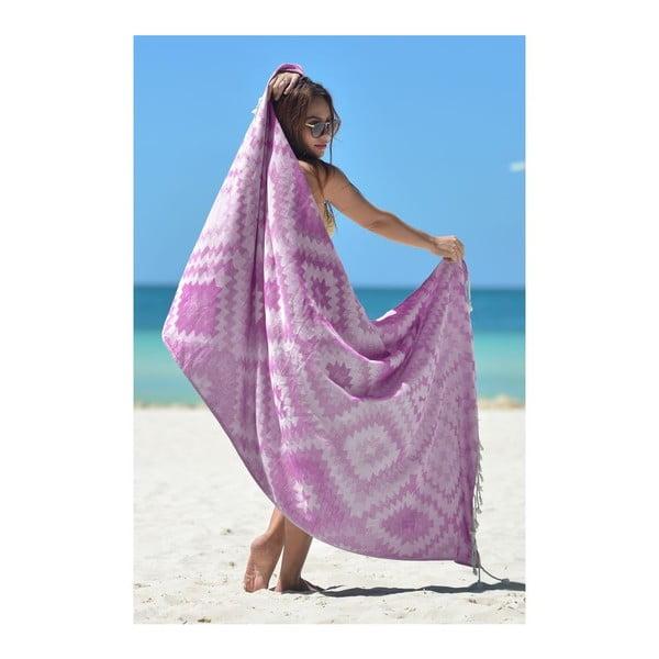 Hammam osuška Vive Purple, 95x180 cm