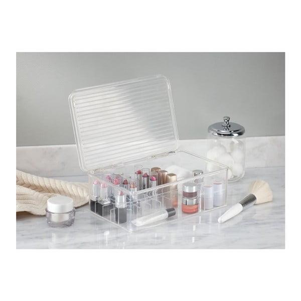 Organizér InterDesign Clarity Lipstick & Cosmetic Box, 27,5x18,5x9,5 cm