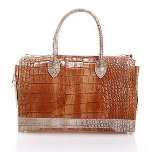 Kožená kabelka Livie, hnedá