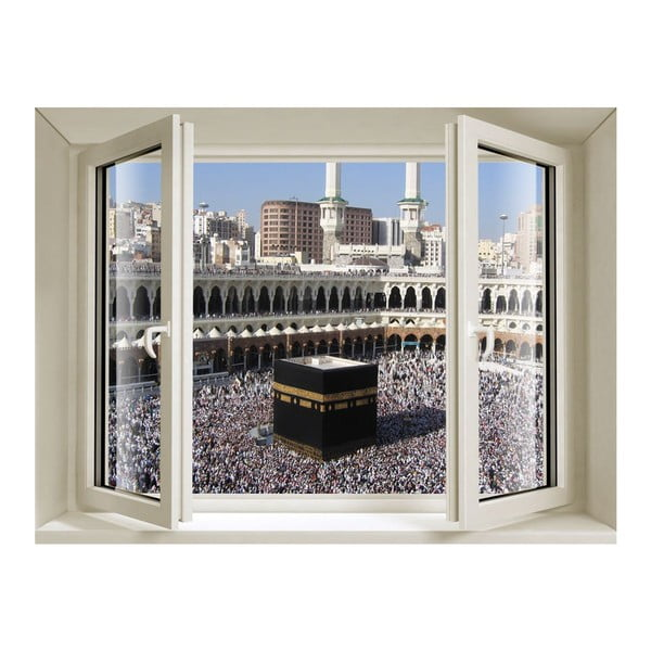 3D samolepka Fenêtre La Mecque