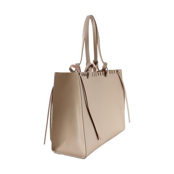 Kožená kabelka Linda, růžová