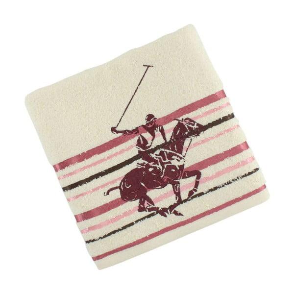 Krémovo-ružový bavlnený uterák BHPC Velvet, 50x100 cm