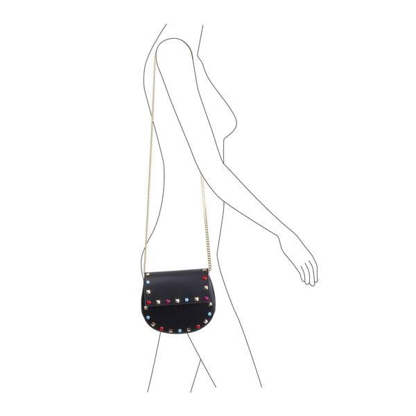 Čierna kabelka z pravej kože Andrea Cardone Anjelica
