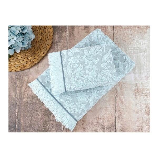 Sada 2 modrých uterákov Irya Home Royal, 50x90 cm