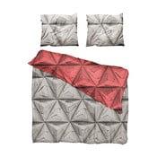 Červeno-hnedé obliečky Snurk Monogami, 200 x 200 cm