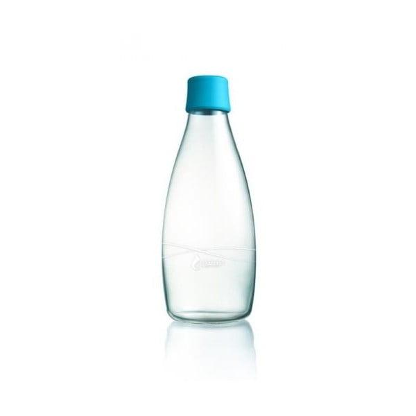 Svetlomodrá sklenená fľaša ReTap s doživotnou zárukou, 500 ml