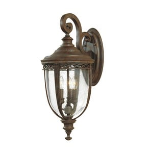 Nástenné svietidlo v bronzovej farbe Elstead Lighting English Bridle Uno