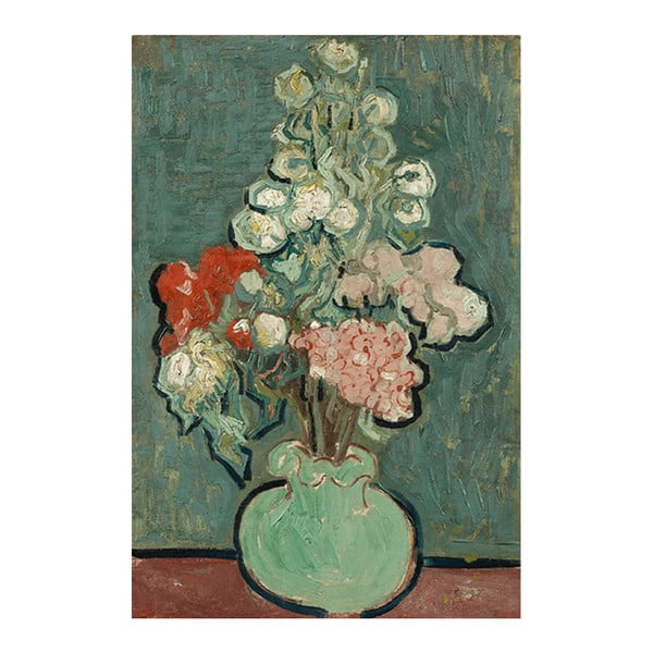 Obraz Vincenta van Gogha - Vase of Flowers, 60x40 cm
