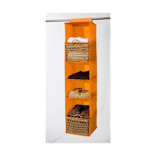 Textilný závesný organizér Orange 6 Rack