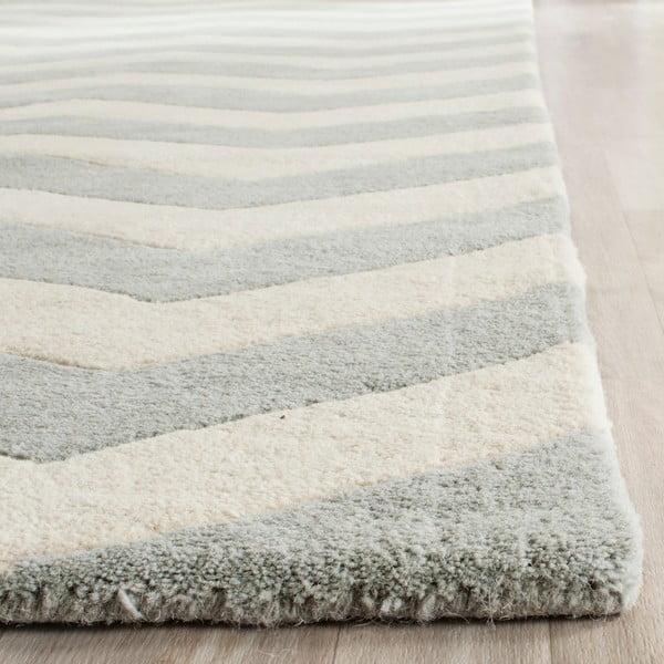 Vlnený koberec Crosby Grey, 91x152 cm