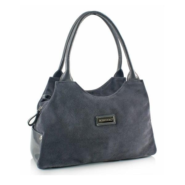 Kožená kabelka Boscollo Grey 3261
